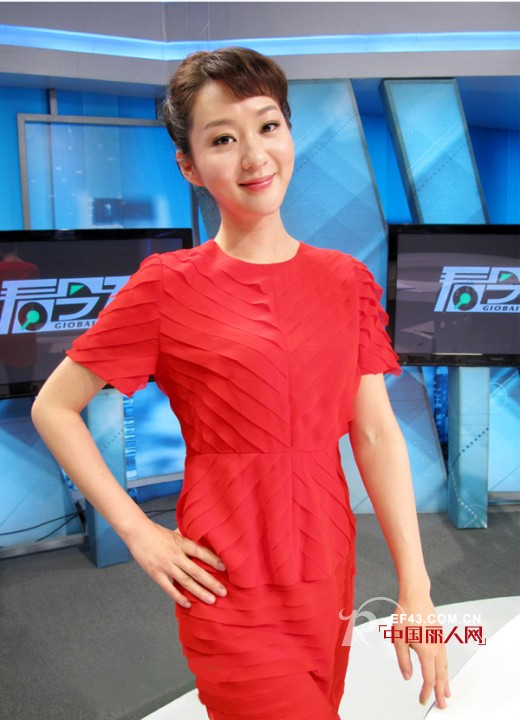 EITIE红色蕾丝连衣裙搭配 叶一茜林恒同款连衣裙
