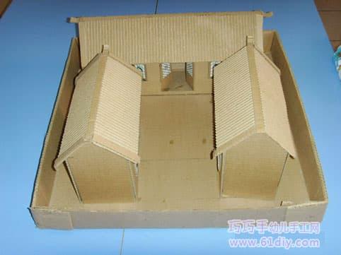 Waste carton house