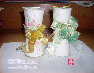 Paper cup vase