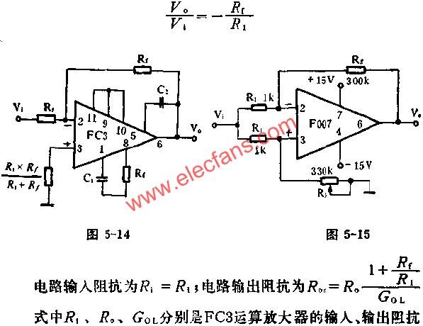 Reverse analog circuit diagram