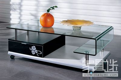 Choose a glass coffee table with good storage effect.jpg