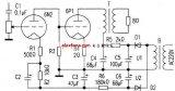 High grid negative pressure tube power amplifier circuit diagram