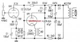 Cathode output tube power amplifier circuit