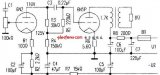 Electronic power amplifier circuit powered by dual power supplies