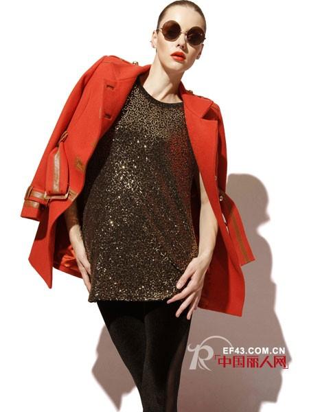 弗卡2012冬季女装 橘红色温暖冬季大地