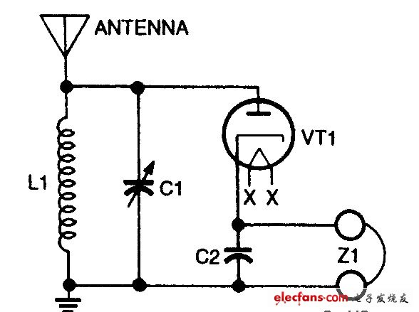 Simple radio receiver circuit