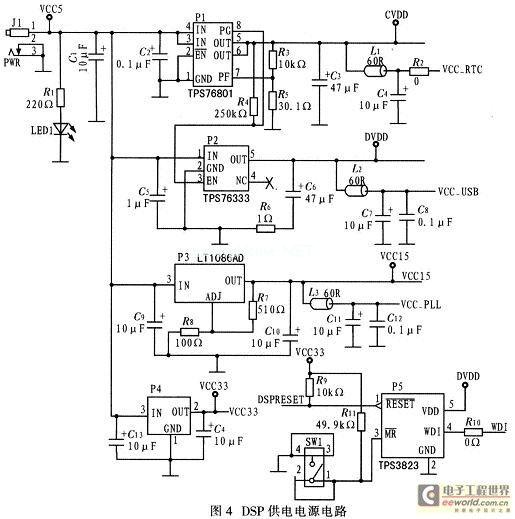 DSP power supply circuit