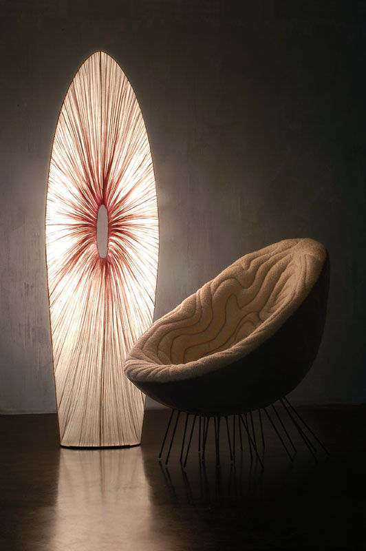 Israeli master lighting design highlights the beauty of the curve
