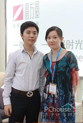 圆方园总经理 庄伟园(左)