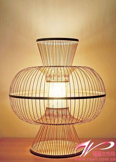 Bamboo lamp in nature bamboo studio