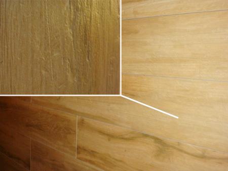 瓷砖上逼真的木纹效果