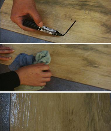 金意陶田园木歌木纹砖2-3耐污性测试