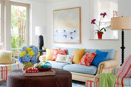 Easy 10-step easy to match Custom summer cool and pleasant living room