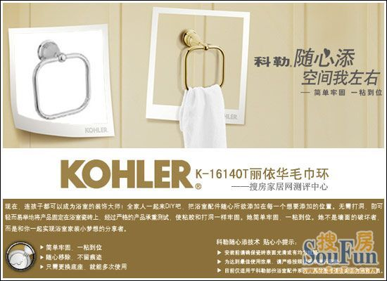 Kohler K-16140T Li Yihua towel ring evaluation
