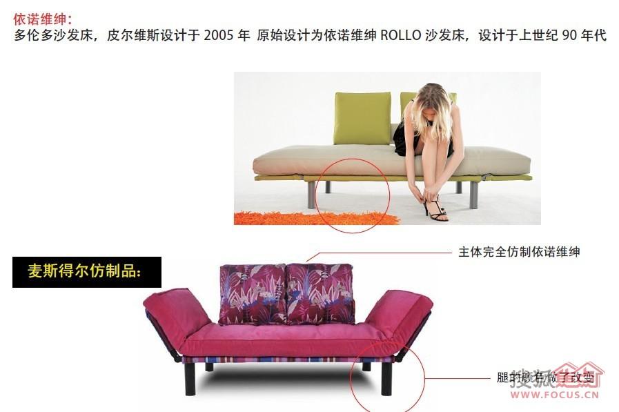 依诺维绅产品与仿制品对比图:多伦多沙发床