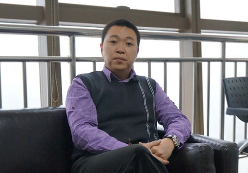 The picture shows Chen Tao, CEO of Yitong International Home Group.