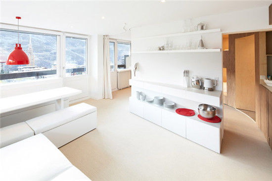 55 square meters apartment with eight beds