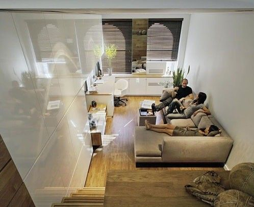 Small apartment with great wisdom Fully functional 46 square meters space design