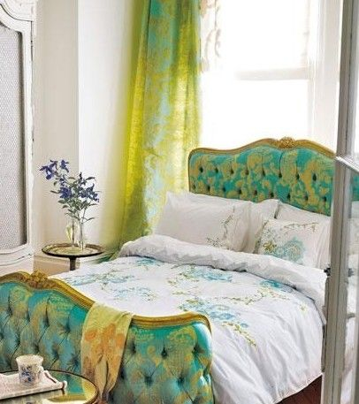 Classical bedding creates a fresh, natural home bedroom