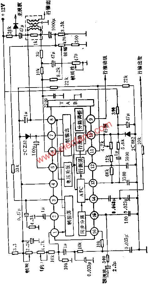 D1379C internal block diagram and peripheral circuit diagram