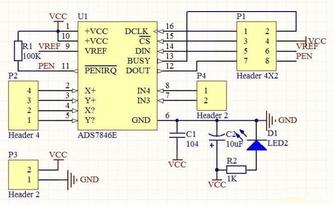 Touch screen control circuit making small notes