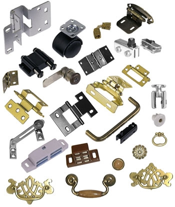 What are the common accessories for door and window hardware?