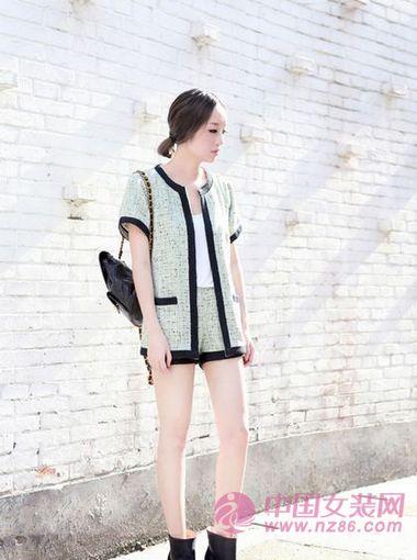 2013春夏大受欢迎的小香风短裤套装(图3)