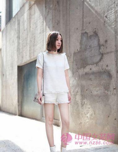 2013春夏大受欢迎的小香风短裤套装(图4)