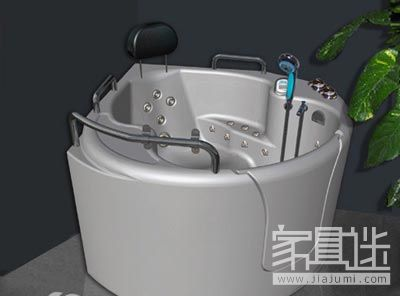 How do the elderly decorate the open bathtub in the home.jpg