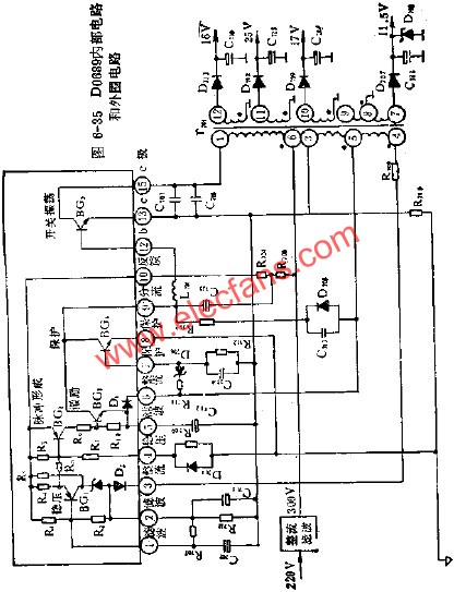 D0689 internal circuit and peripheral circuit diagram