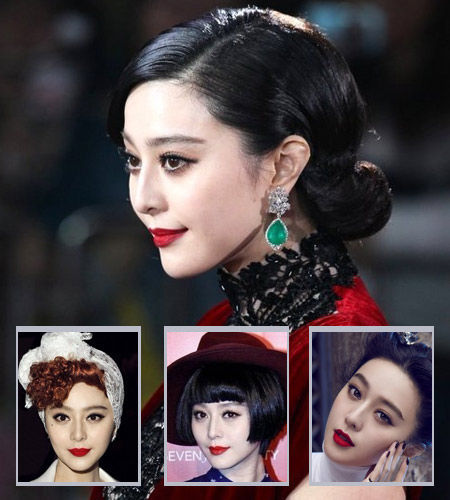 Fan's red lip makeup