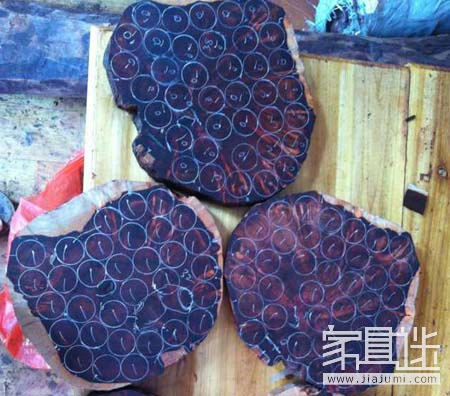 How does 3 lobular rosewood make bracelets from logs? .jpg