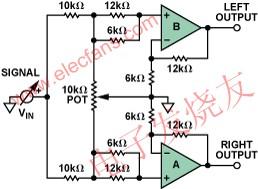 Audio Panpot Amplifier