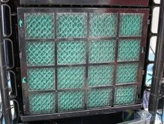Sterilizer and filter inside the air conditioning fan