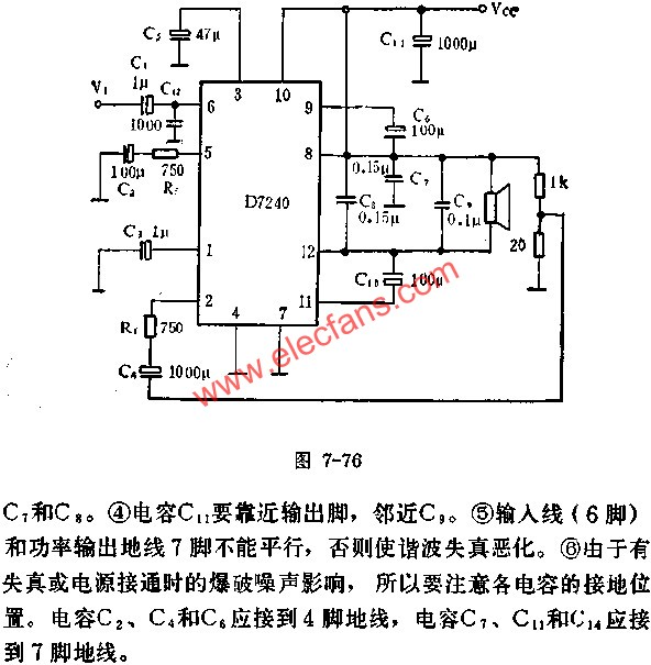 D7240 for BTL Amplifier Circuit Application