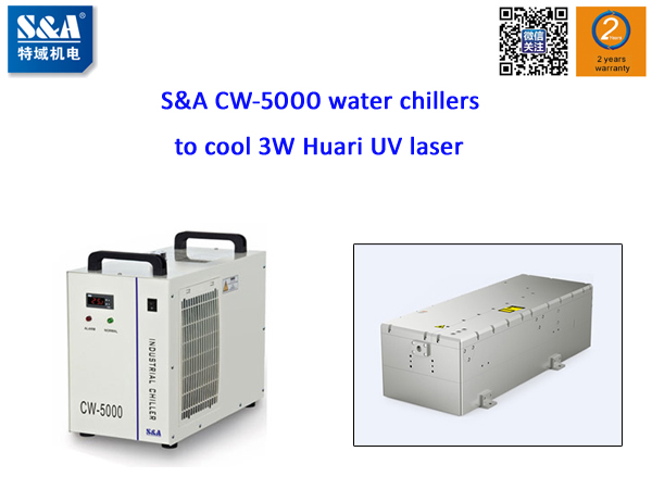 Marking machine manufacturer uses S&A CW-5000 water chillers to cool 3W Huari UV laser