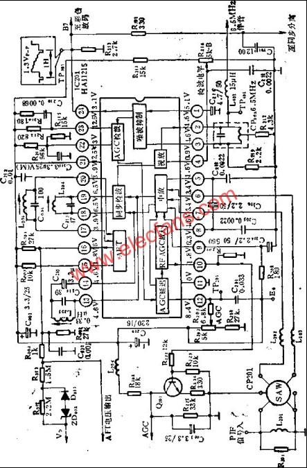 LH11215 principle block diagram and external circuit diagram