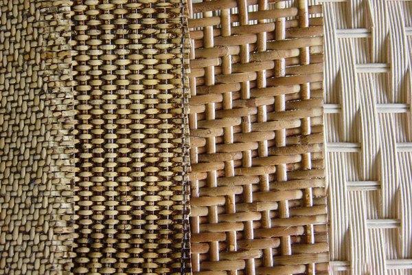 不同质地的藤条编织