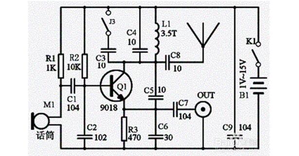 Simple wireless microphone circuit diagram (seven wireless microphone circuit diagrams)