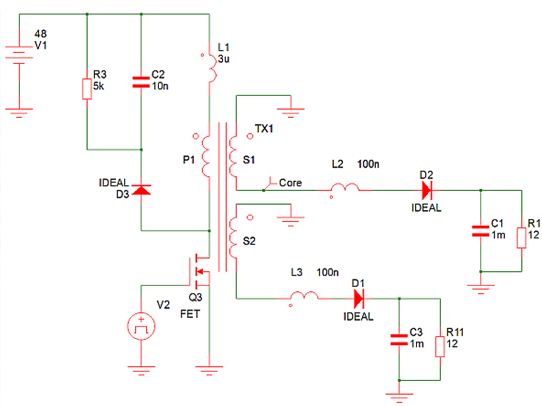Why is the flyback power supply the best in a multi-output system topology