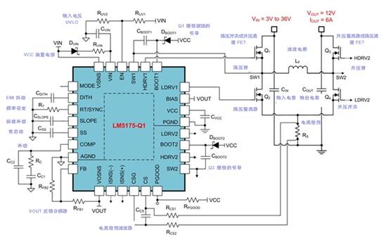 Boost solution from 3V to 36V wide VIN range