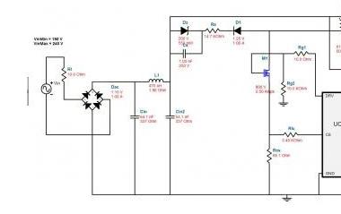220V AC to 12V DC reference design