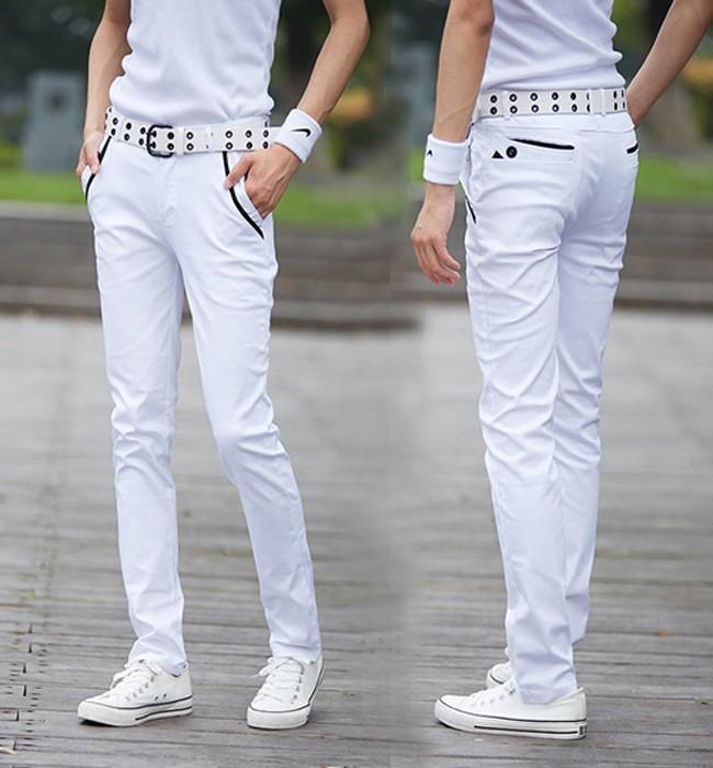 Yahe boutique men's casual pants Men's denim pants autumn men's personality casual sports pants fashion Korean Slim long pants tide male