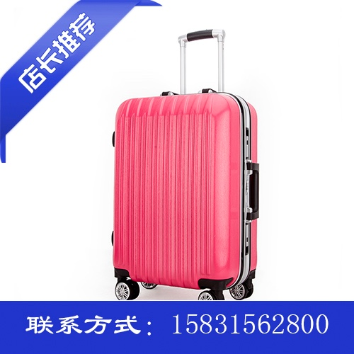 Fashion suitcase vertical stripes multicolor
