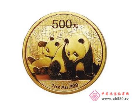 Panda gold coin