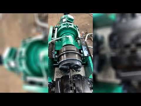 JBG-40E rebar rib peeling and thread rolling machine operation video