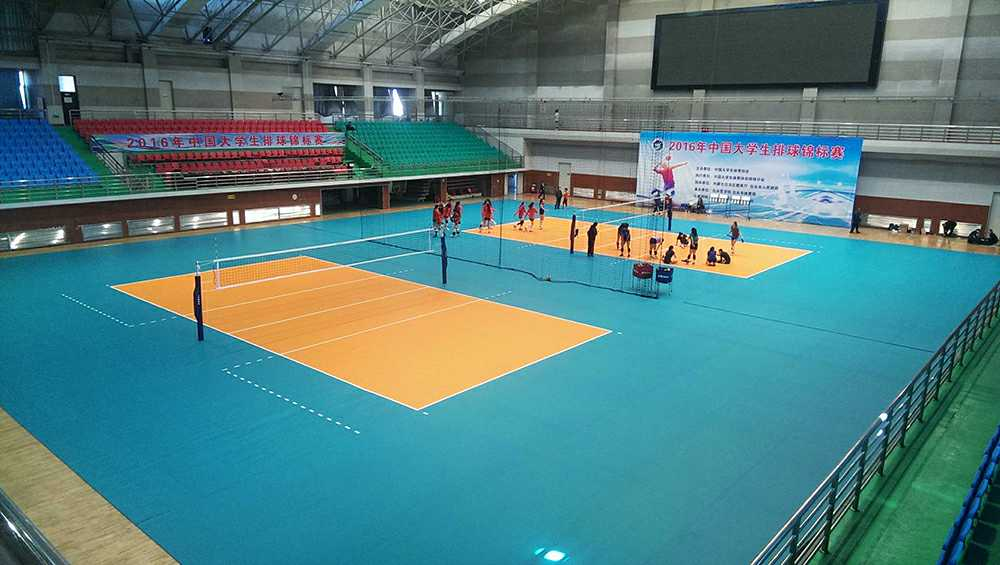 volleyball sports court floor