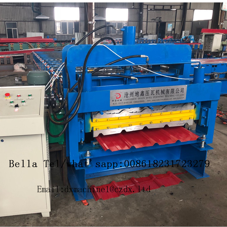 Double layer roll forming machine for glazed and IBR
