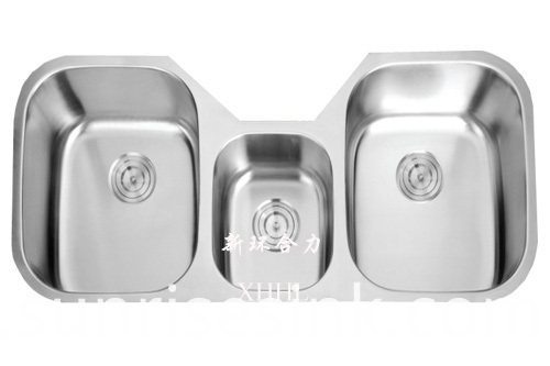 Triple Bowl Kitchen Sink
