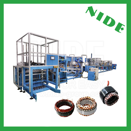Automatic stator manufacturing production line